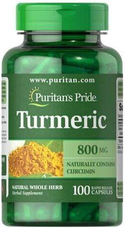 Куркума Puritan's Pride - Turmeric 800 мг (100 капсул)