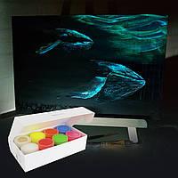 Светящаяся краска Acmelight для творчества набор 8шт. (160 мл)