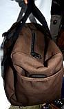 Дорожная и городская синяя сумка с разъемом USB 47*26 см, фото 4