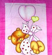 Плед з мікрофібри Ведмедик на кулі рожевий, фото 3
