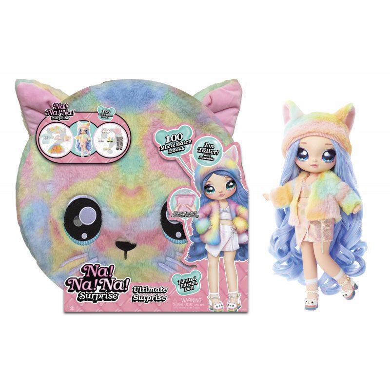 Оригинал! Мягкая кукла  На На На Сюрприз Радужная Кошечка Na Na Na Ultimate Rainbow Kitty 571810 Пром-цена