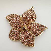 Брошь - Кулон золотой цветок, фото 1