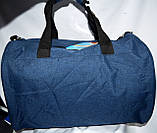 Дорожная и городская синяя сумка с черными ручками 45*30 см, фото 3