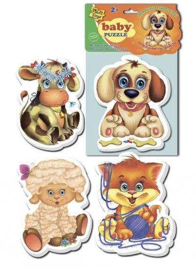 Мягкие Беби пазлы Домашние любимцы 211 Vladi Toys SKL11-219352