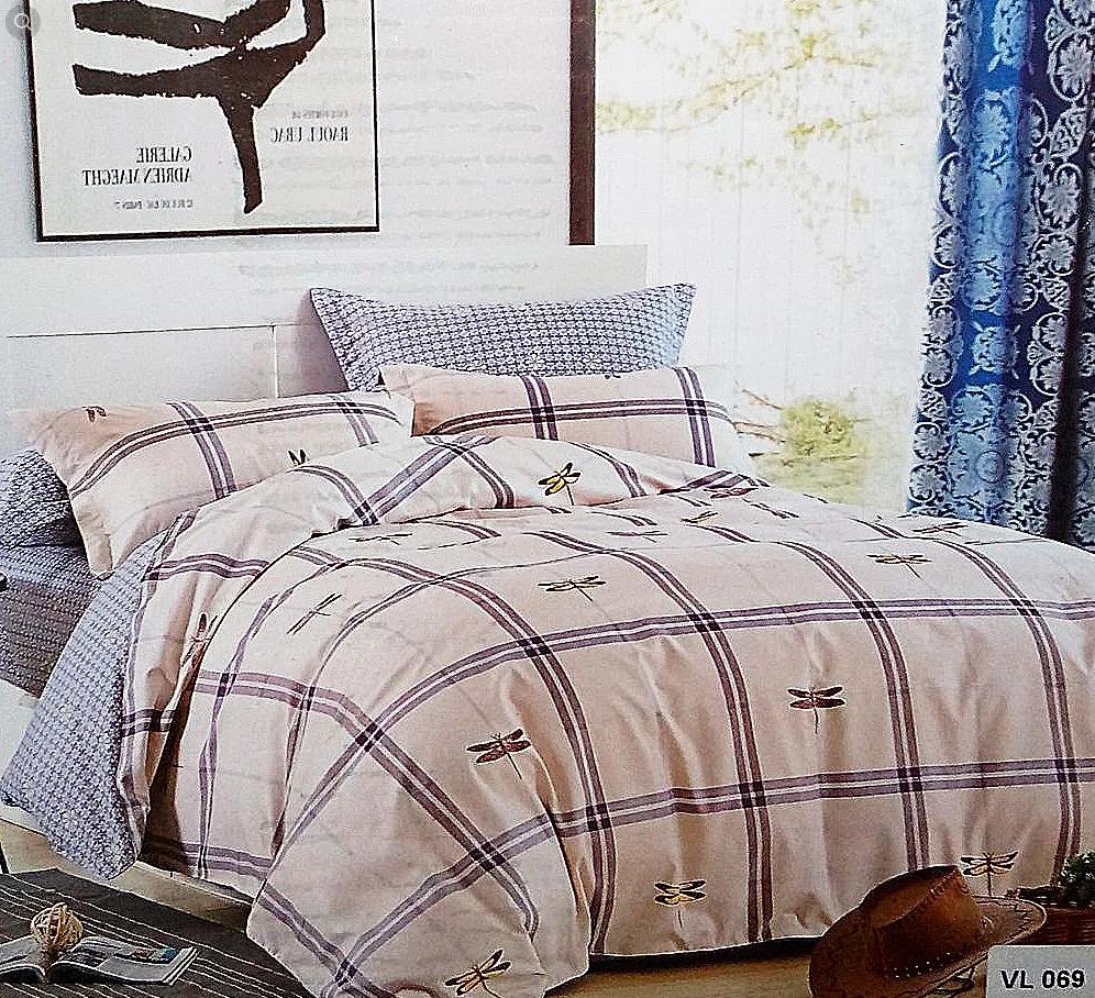Комплект постельного белья евро микровелюр Vie Nouvelle Velour 200х220  Bed Sheet VL069