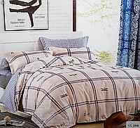 Комплект постельного белья евро микровелюр Vie Nouvelle Velour 200х220  Bed Sheet VL069, фото 1