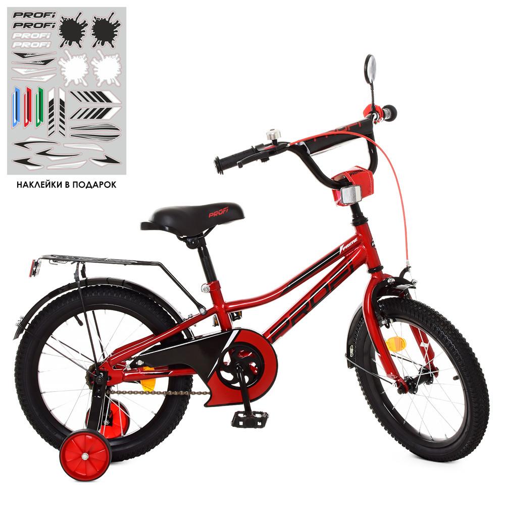 Велосипед детский PROF1 16д. Y16221 Prime,красный