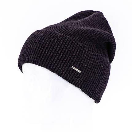 Шапка мужская Leks Лофт черно бордовая        ( 20659037 m ), фото 2