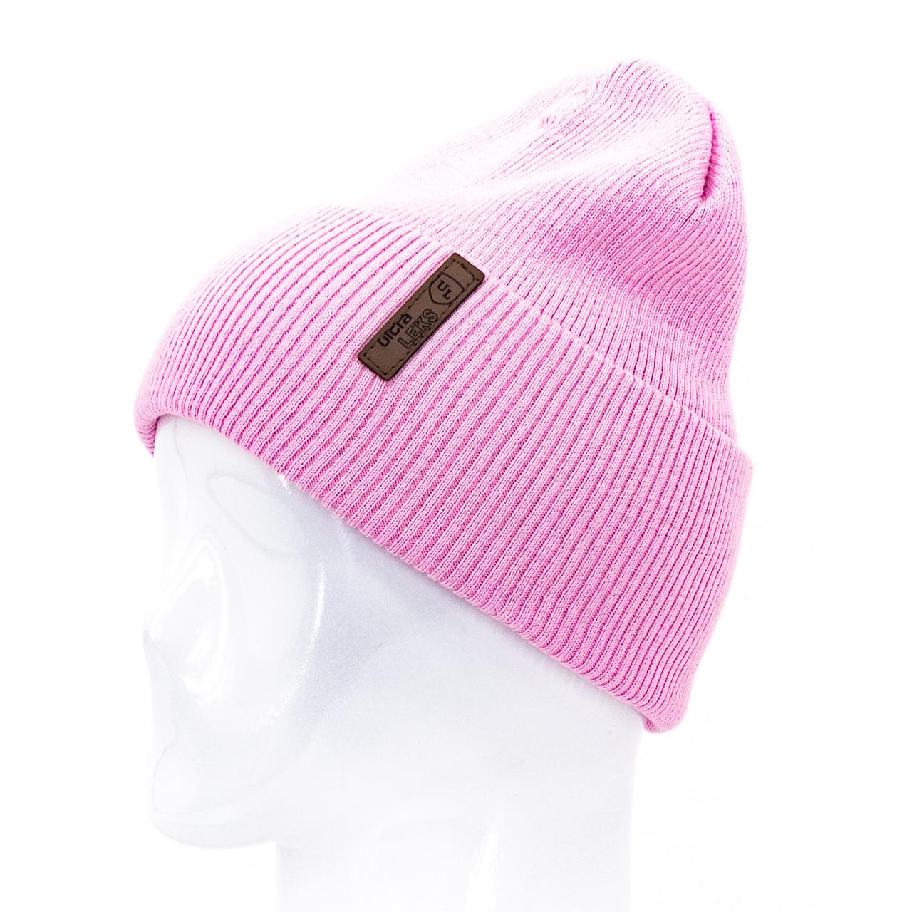 Шапка женская Leks Швеция темно розовая        ( 17608361 m )