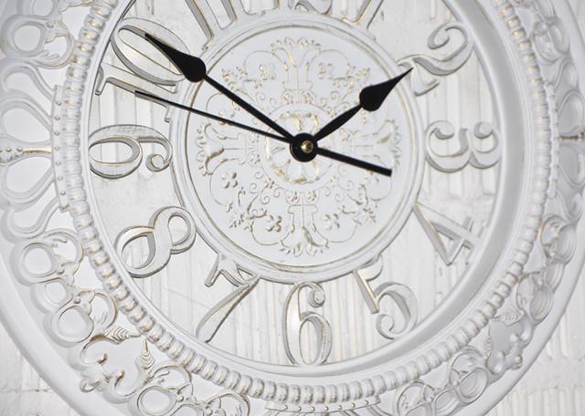 Настінні годинники білі з патиною (40 див.) (фото)