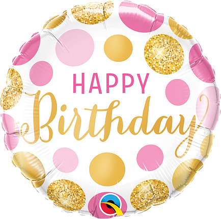 "Круг 18"" QUALATEX-КВ Happy Birthday - нежные пузырьки (УП), фото 2"