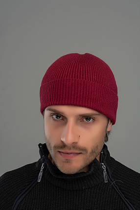 Шапка мужская Leks Сопрано бургунд         ( 20766965 m ), фото 2