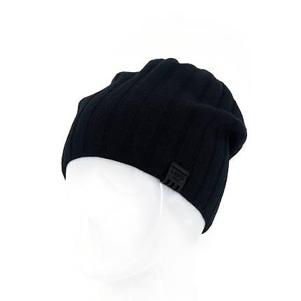 Шапка мужская Leks Фауст черная         ( 24119008 m ), фото 2