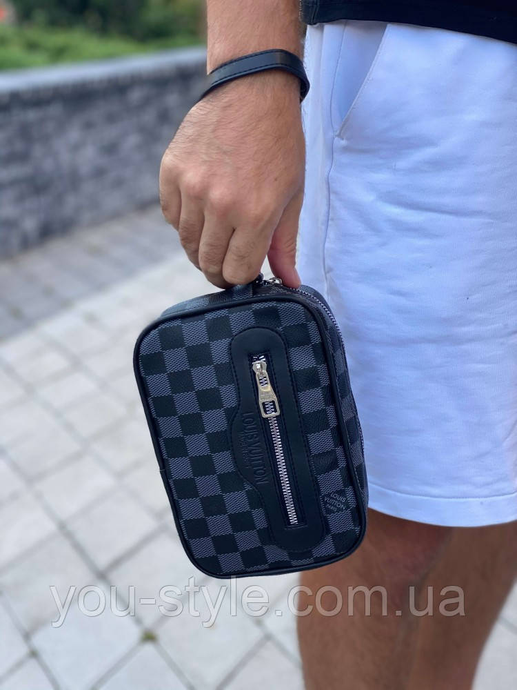 Клатч Louis Vuitton Kasai Damier Graphite