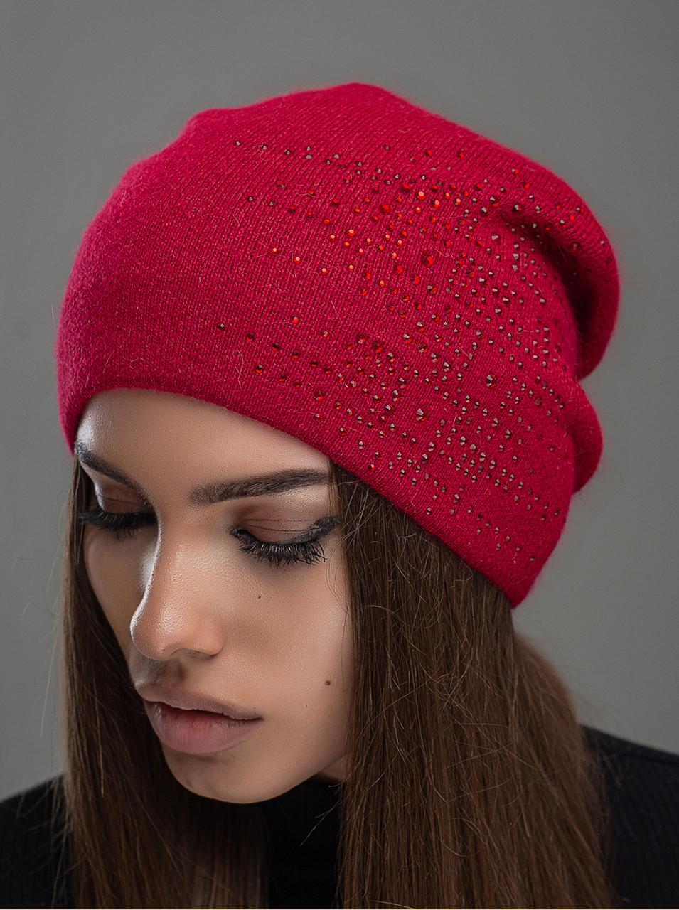 Шапка женская Leks Алмаз красный         ( 24199073 m )
