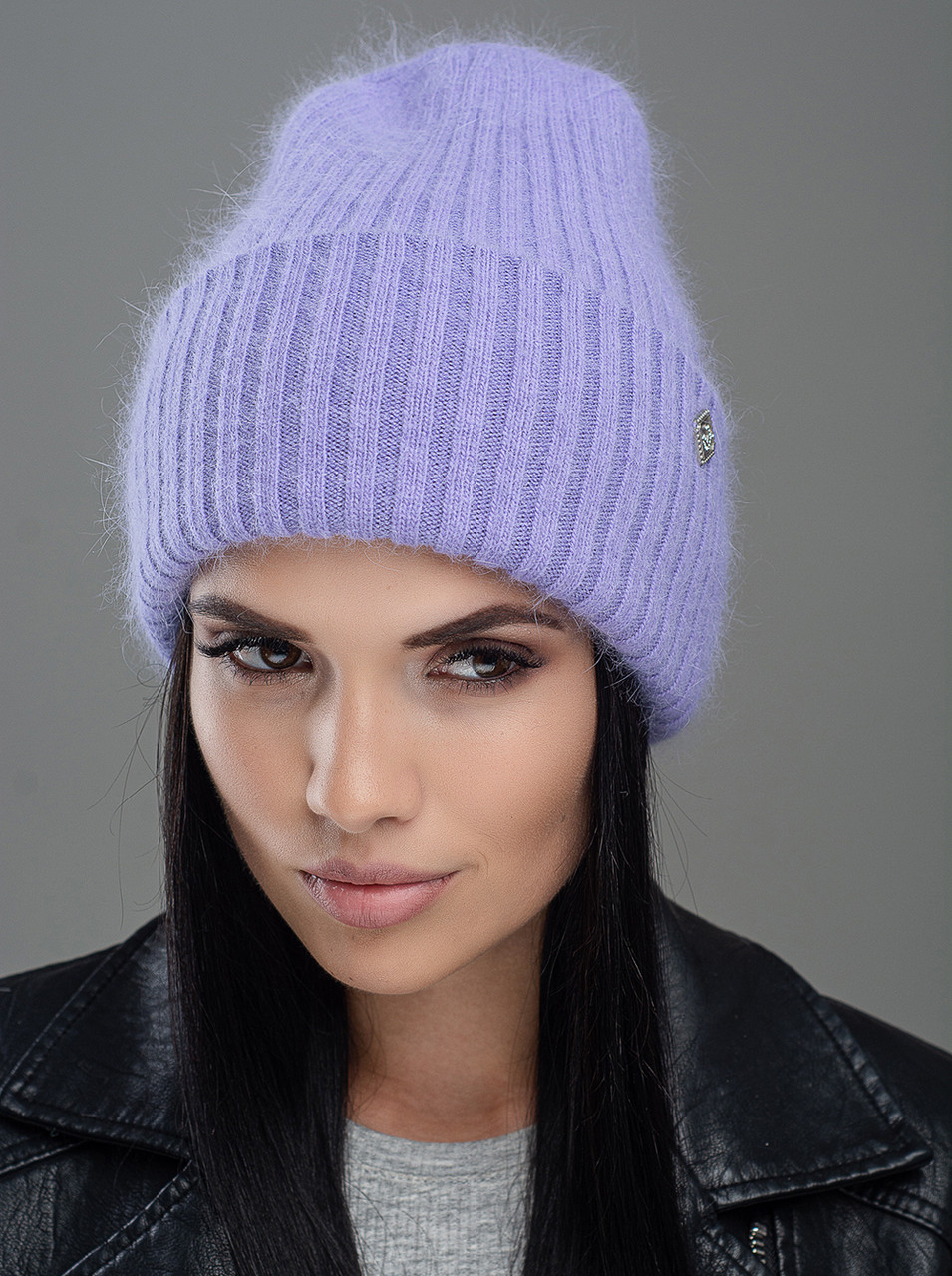 Шапка женская Leks Миндаль светло фиолетовая         ( 24029780 m )