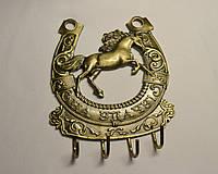 "Подкова ключница ""Лошадь"" (метал 12х10  см)"