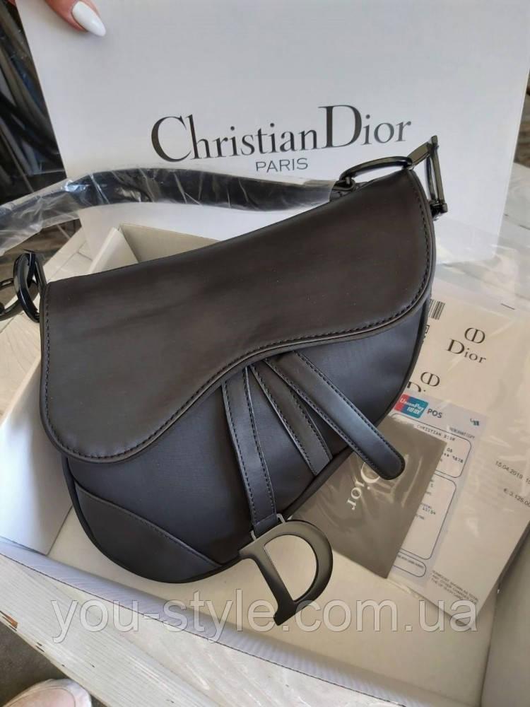 Женская сумка Dior Saddle Black