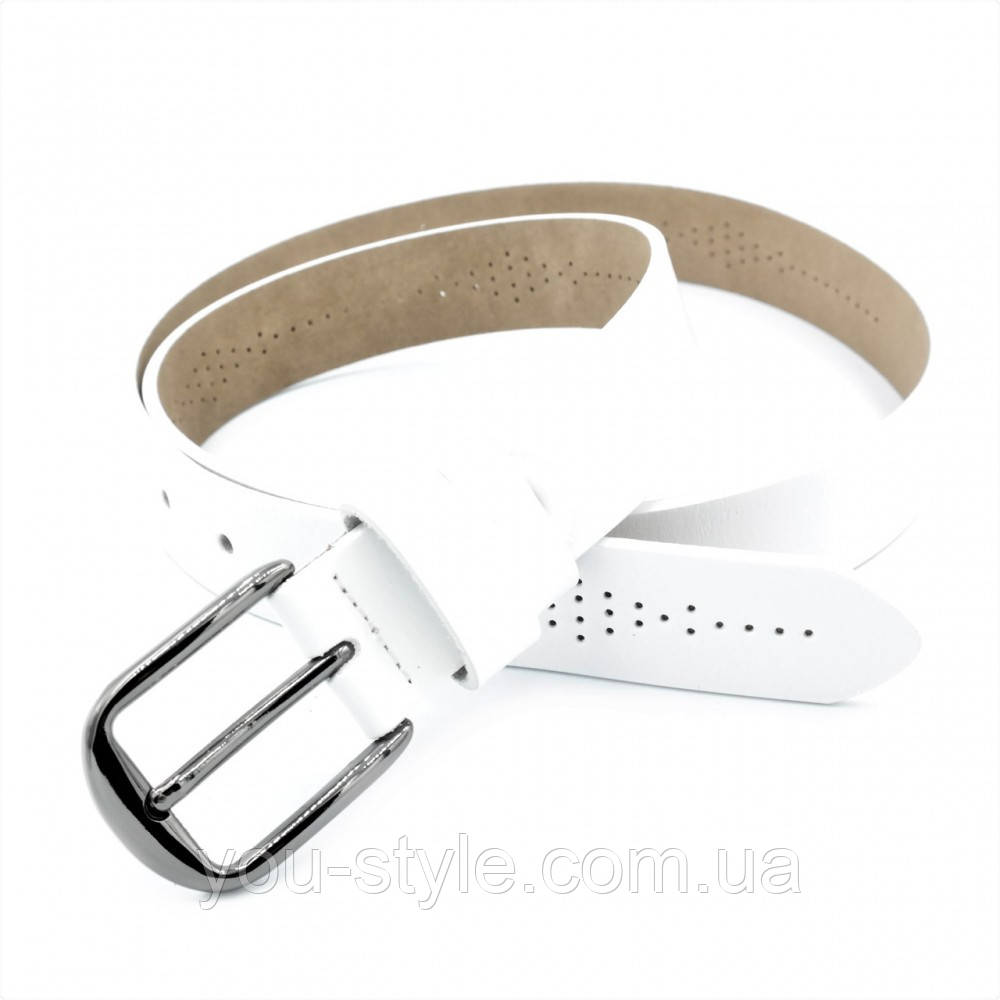 Женский кожаный ремень Weatro nwzh-30k-0082 Белый