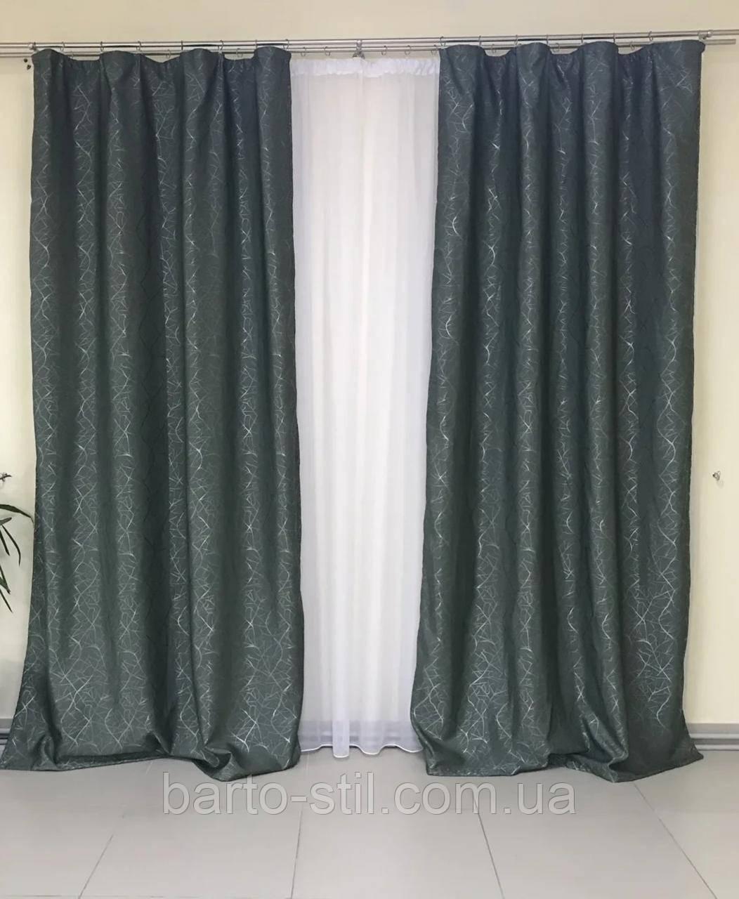 Комплект готовых штор из ткани лён софт Высота 2.7 м.