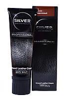 "Крем краска для обуви Professional ""Waxed Leather Cream"" (Коричневый) 75мл - Silver, фото 1"
