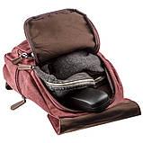 Компактный женский текстильный рюкзак Vintage 20195 Малиновый, фото 4