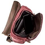 Компактный женский текстильный рюкзак Vintage 20195 Малиновый, фото 6