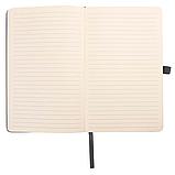 Блокнот в линейку с визитницей и фиксатором ручки, твердая обложка 128стр. 13*21 см, фото 3