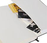 Блокнот в линейку с визитницей и фиксатором ручки, твердая обложка 128стр. 13*21 см, фото 4