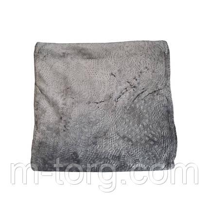 """""""серый"""" плед двуспальный 180/220, микрофибра, фото 2"""