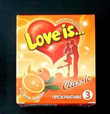 Презервативы ПРЕМИУМ Love is 3 шт. Со вкусом Апельсина