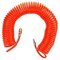Шланг спиральный полиэтиленовый (PЕ) 15м 6.5×10мм GRAD (7011385), фото 1