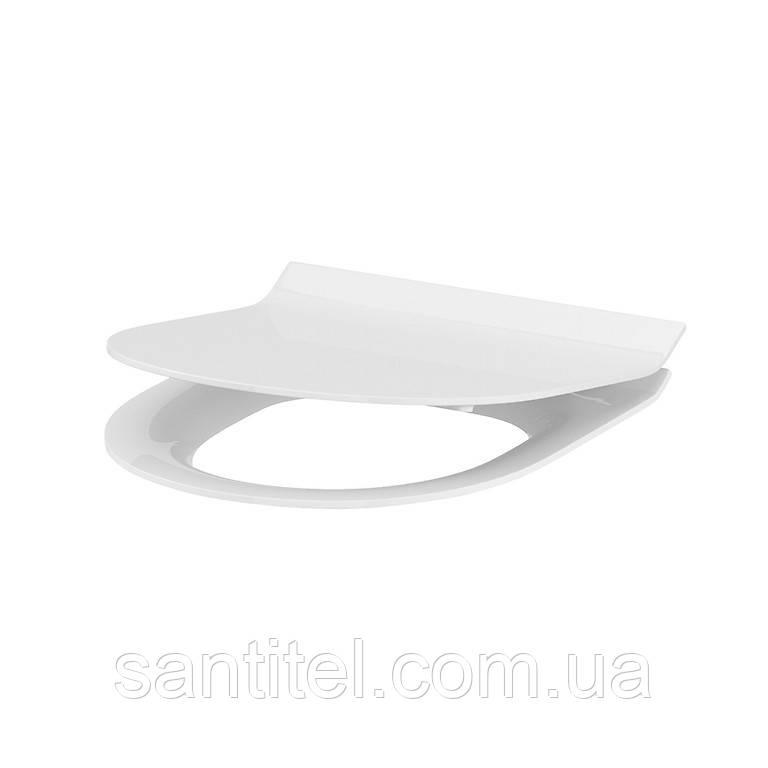 Сиденье для унитаза CREA овальное дюропл. лифт, легкосъемное  SLIM