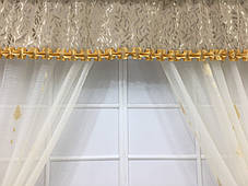 "Комплект штор ""Каскад"" Бежевая, для кухонного окна, фото 3"