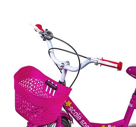 """Велосипед 18 """"Scale Sports"""" Розовый T18, Ручной и Дисковый, фото 2"""