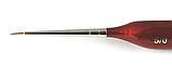 Набор кистей H&S Kolibri Red Sable №5/0 (красный соболь), 3 шт., фото 2