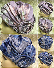Женская мини  шапка с розой  на резинке