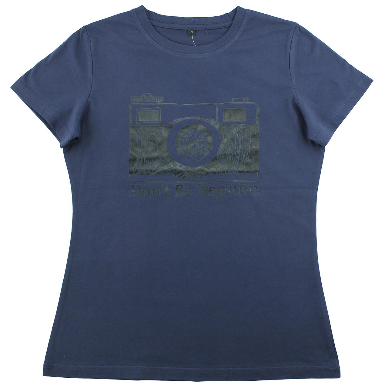 Модная крутая футболка хлопковая женская синяя летняя футболка с принтом камеры в стиле ретро
