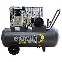 Компрессор ременной двухцилиндровый 380В 2.2кВт 508л/мин 10бар 100л SIGMA REFINE (7044211), фото 1