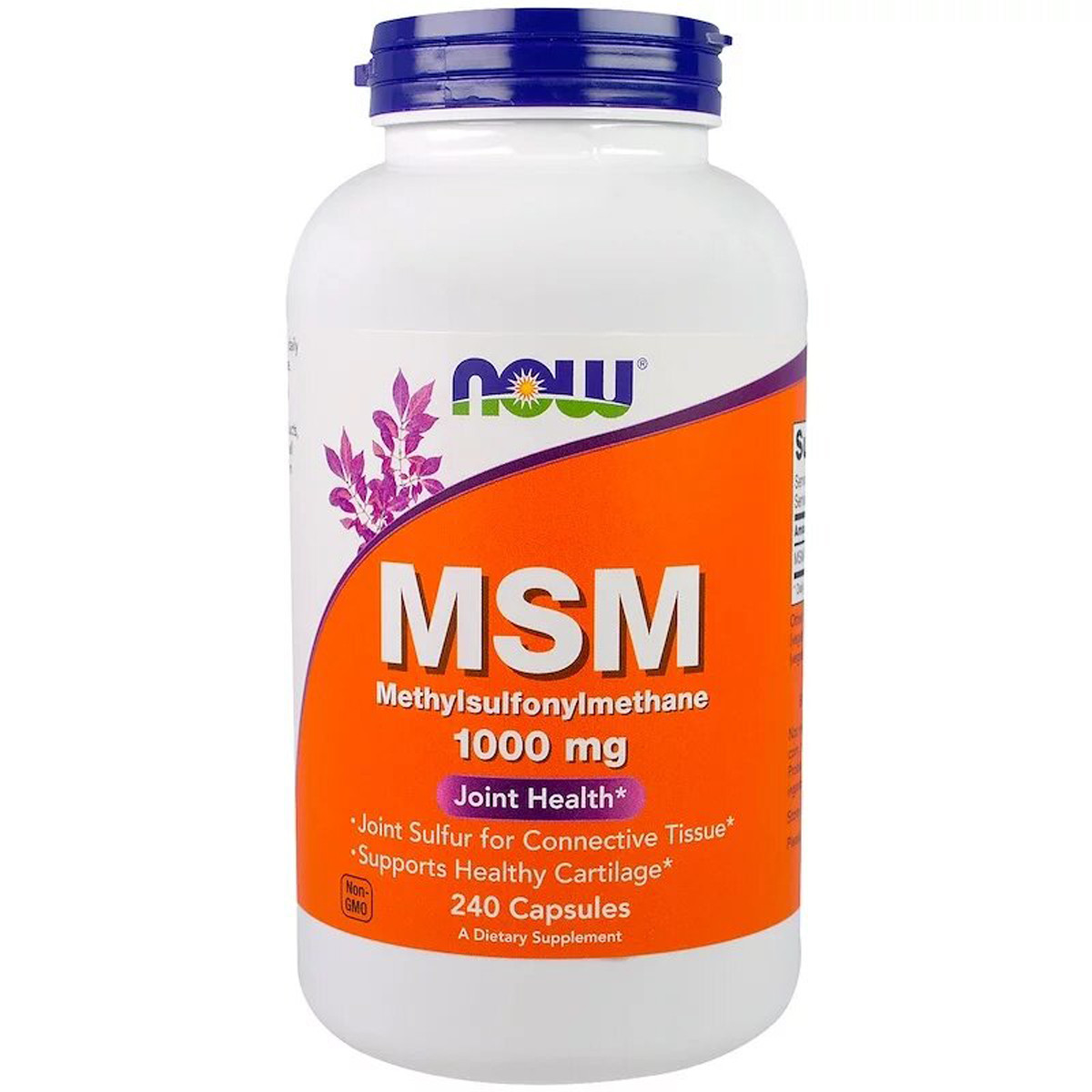МСМ (Метилсульфонинметан), Now Foods, MSM, 1000 mg, 240 Capsules