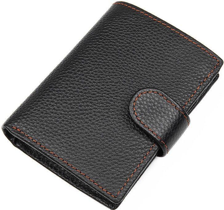 Кошелек мужской Vintage 14591 кожаный Черный