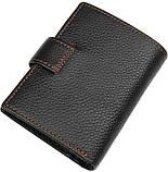 Кошелек мужской Vintage 14591 кожаный Черный, фото 2