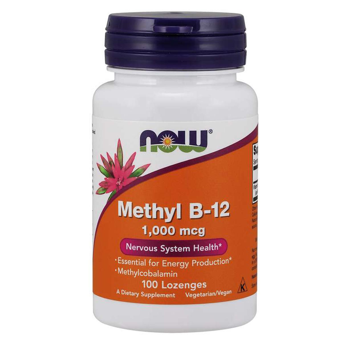 Витамин B-12, Vitamin B-12, Now Foods, 1000 мкг, 100 леденцов