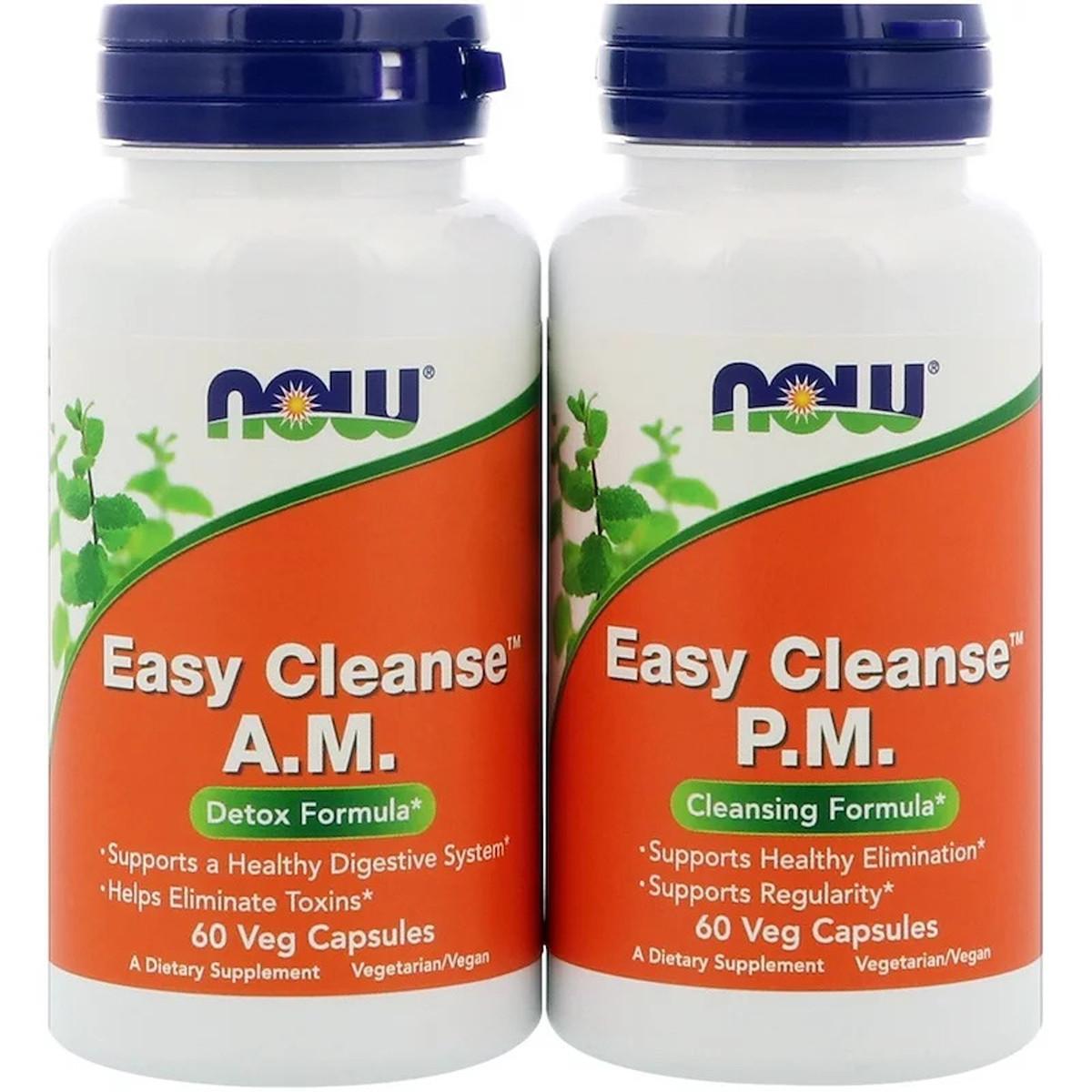 Детокс Очищение Организма, Easy Cleanse, Now Foods, 2 бутылки по 60 капсул