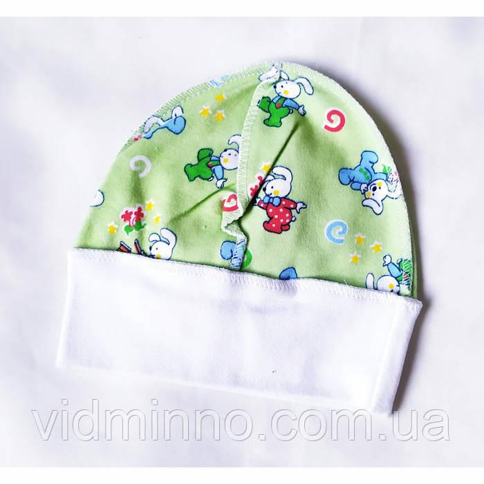 Детская трикотажная шапочка на 1-6 месяца