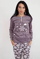Теплая женская пижама флисовая Турция зима 2020, фото 1