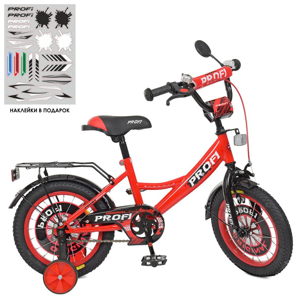 Велосипед детский PROF1 14д. XD1446 Original boy,красно-черный