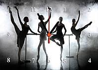 "Часы настенные стеклянные ""Балерины"""