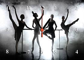 """Годинники настінні скляні """"Балерини"""""""