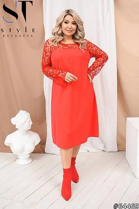 Восхитительное платье со вставками сетки флока, фото 2